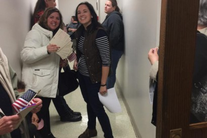 Bread members, like Emily Kousma Huestis, right, have been showing up at town halls and scheduling meetings with members of Congress to advocate for affordable health care – and they are  sharing personal stories to get their point across.