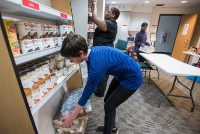Campus food pantry. Photo by Lacey Johnson for Bread for the World
