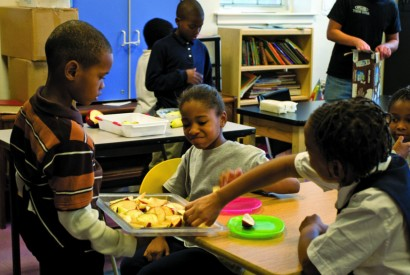 Children enjoy a snack at an after-school program in Washington, DC. Photo by Mark Fenton / Bread for the World