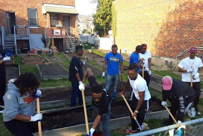 Black Church Food Security Network volunteers working in a garden. Photo courtesy of Rev. Dr. Herber Brown III.