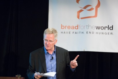 Rick Steves during Lobby Day. Bread for the World.