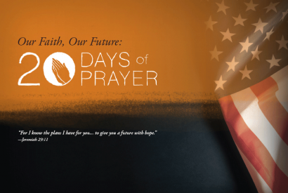 Graphic: 20 Days of Prayer