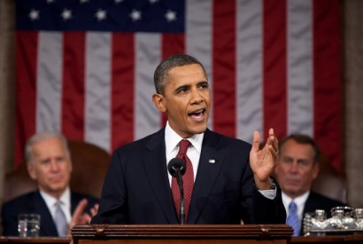 President Obama addressing Congress in 2012. Wikimedia Commons.