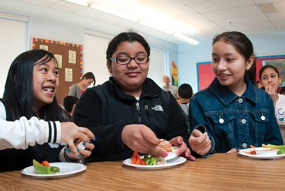 Racial discrimination, gender discrimination, and discrimination on the basis of immigration status often put Latino families at a higher risk of hunger and poverty. Joseph Molieri/Bread for the World.