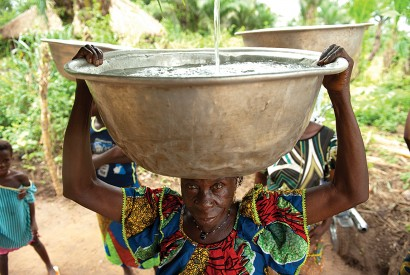 Access to clean drinking water leads to improvements in public health and serves as a catalyst for lifting people out of poverty. Arne Hoel/World Bank.