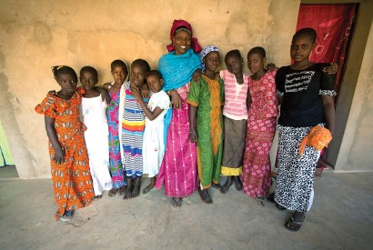 In Senegal, a community-based program teaches pre-teen and adolescent girls about nutrition and good hygiene. Photo courtesy of USAID.