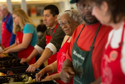 Volunteers at The Table, a market-style food pantry run by St. George's Episcopal Church in Fredericksburg, Va. Joseph Molieri/Bread for the World.