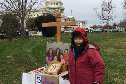 "Antonia, a mother of four ""Dreamers"" fasted for 12 days in December to encourage Congress to act on the Deferred Action for Childhood Arrivals (DACA) program. Chase Chabot for Bread for the World."