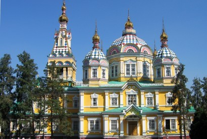Ascension Cathedral in Almaty, Kazakhstan. Wikimedia Commons.