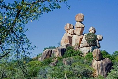Balancing Rocks in Matopos National Park, Zimbabwe. Susan Adams/Wikimedia Commons.