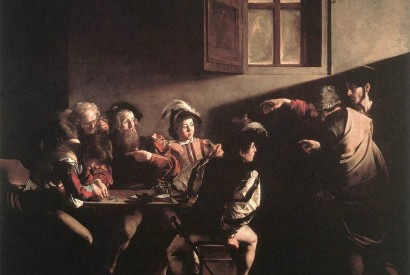 """The Calling of St. Matthew"" by Caravaggio (1599-1600). Photo from Wikimedia Commons"