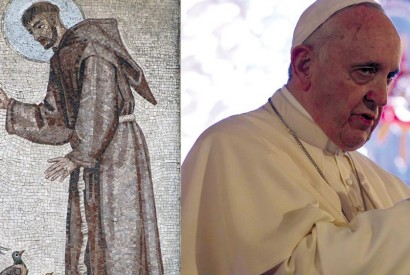 St. Francis of Assisi and Pope Francis