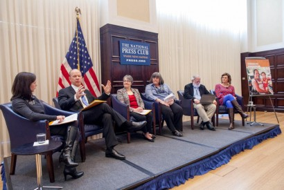 A panel of speakers at the launch of the 2016 Hunger Report. Photo by Joseph Molieri
