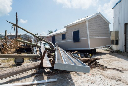 Damaged property litters the side of Overseas Highway in Big Pine Key, Florida following Hurricane Irma on Tuesday, Sept. 19, 2017. Photo by J.T. Blatty / FEMA