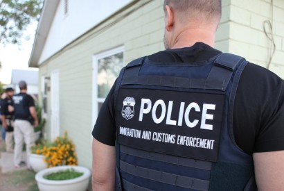 U.S. Immigration and Customs Enforcement (ICE) during a seven-day national enforcement operation. Photo courtesy of ICE via Wikimedia Commons.