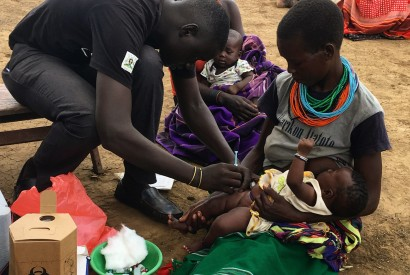 USAID/RWANU supports health centers in Karamoja to reach more people with health services such as immunizations, vitamin A supplementation and other basic health services. Ryan Quinn/Bread for the World.