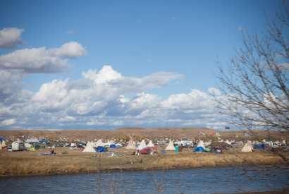 A water protector camp at Cannonball, N.D. Marco Grimaldo/Bread for the World.