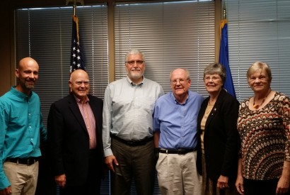 Ed Payne, second from left, with members of the Minnesota Bread Team during a meeting at the office of Sen. Amy Klobuchar (D-MN).