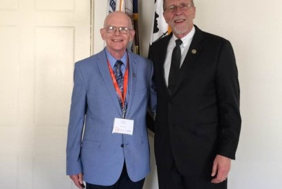 Steve Panther, left, with retiring U.S. Rep. Dave Loebsack. Photo courtesy of Steve Panther.