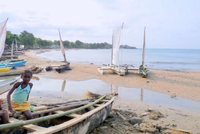 A fisherman beach launch area in Sao Tome and Principe. Wikimedia Commons.