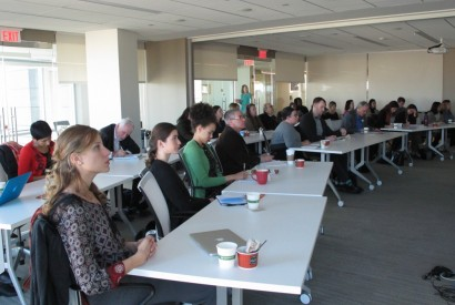 Attendees at a forum about social protection and hunger at Bread for the World. Joseph Molieri/Bread for the World.