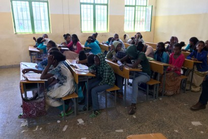 Relief Society of Tigray-sponsored school in Ethiopia. Photo courtesy of David Beckmann.
