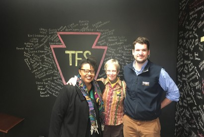 From left to right, Sheena Rolle, Pamela Jensen, and Theo Merkel.