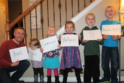 Zach Schmidt and his family use social media to thank U.S. Rep. Randy Hultgren (R-Ill.-14) for cosponsoring the Global Food Security Act. Zach Schmidt/Bread for the World.