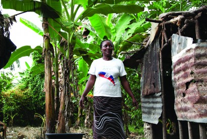 Rosemene operates a small store outside her home in Mirebalais, Haiti. Photo: Laura Pohl / Bread for the World