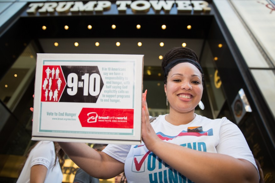 Vote to End Hunger name drop; Bread for the World photo