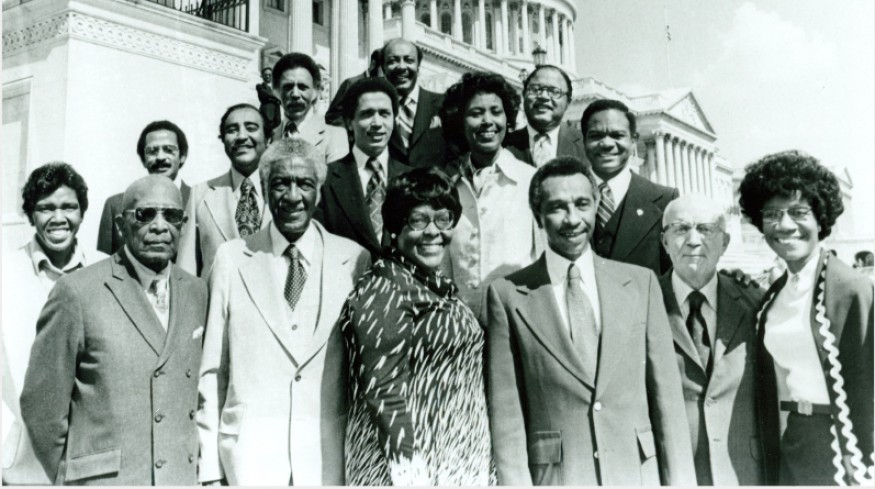 Some of the members of the Congressional Black Caucus, 1977.