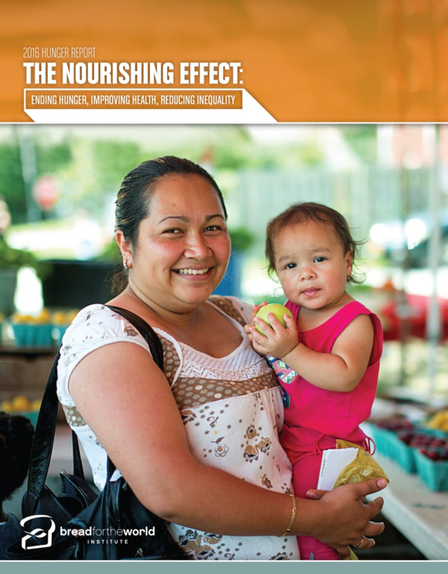 The 2016 Hunger Report is titled The Nourishing Effect: Ending Hunger, Improving Health, Reducing Inequality.