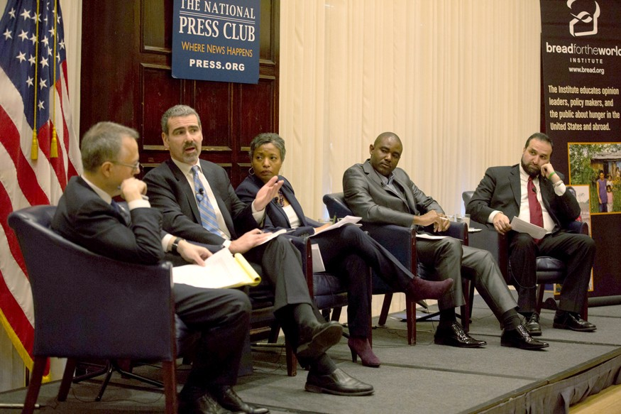 Panelists discuss the 2017 Hunger Report at the National Press Club in Washington, D.C. Joseph Molieri/Bread for the World.