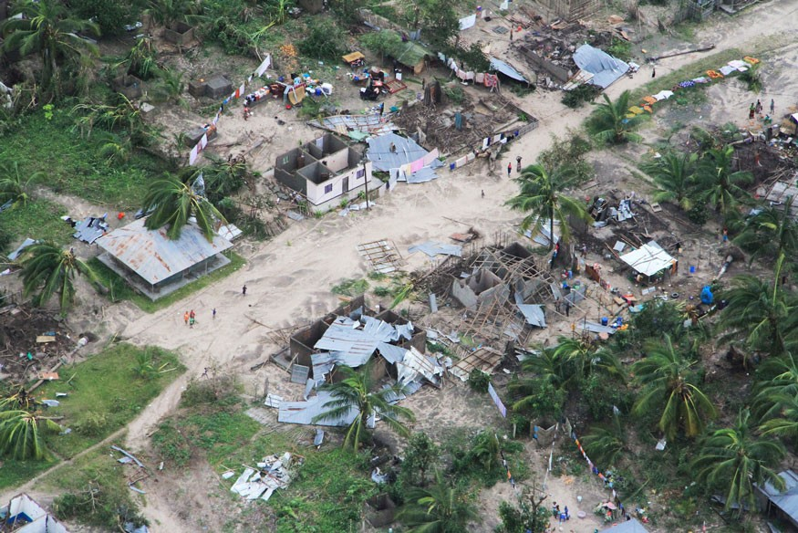Macomia district, in Cabo Delgado, Mozambique, has been hard-hit by Cyclone Kenneth, which made landfall on April 25. Photo by OCHA/Saviano Abreu