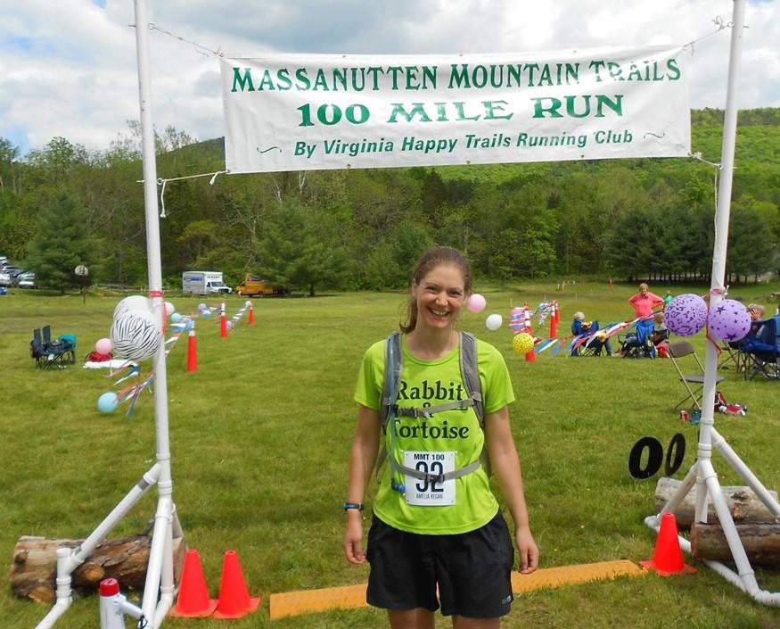 Amelia Kegan completed a 100-mile ultramarathon to help raise money for Bread for the World. Photo: Kari Burnside