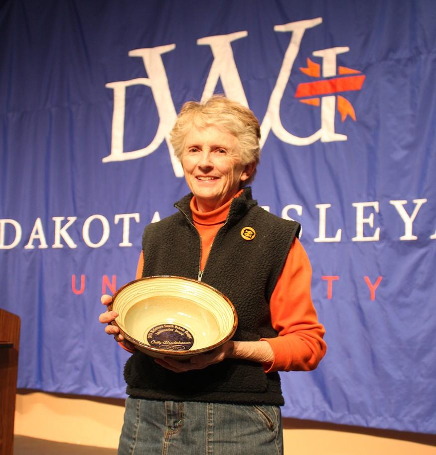 Bread member Cathy Brechtelsbauer. Photo courtesy of Dakota Wesleyan University.