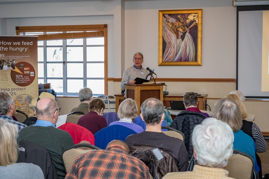 Charlie Gardner speaking during an Offering of Letters workshop. Photo: ToddCreations