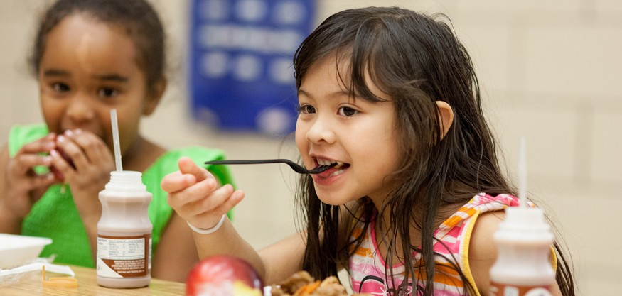Federal nutrition programs for children are a critical part of the fight against hunger.  Photo: Joe Molieri / Bread for the World