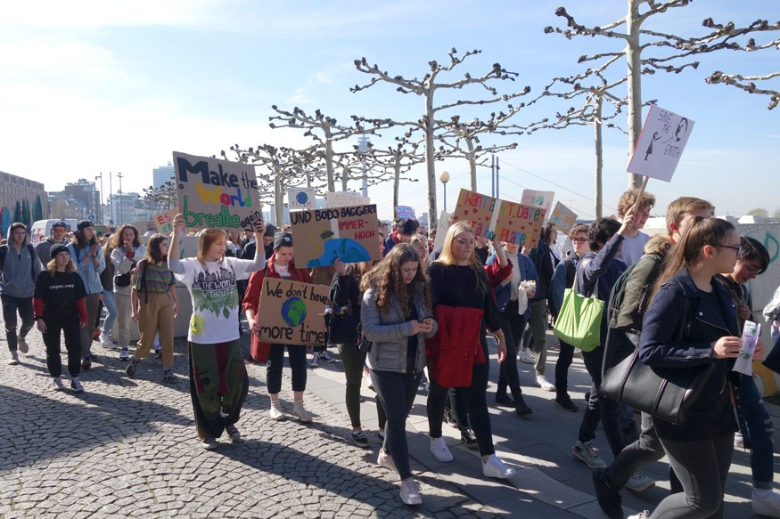 Duesseldorf, Germany: Fridays For Future protest against climate change. Credit: iStock