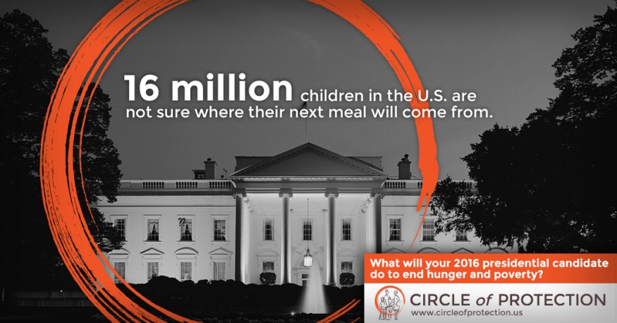16 million children in the U.S. are not sure where their next meal will come from. Design by Doug Puller/Bread for the World