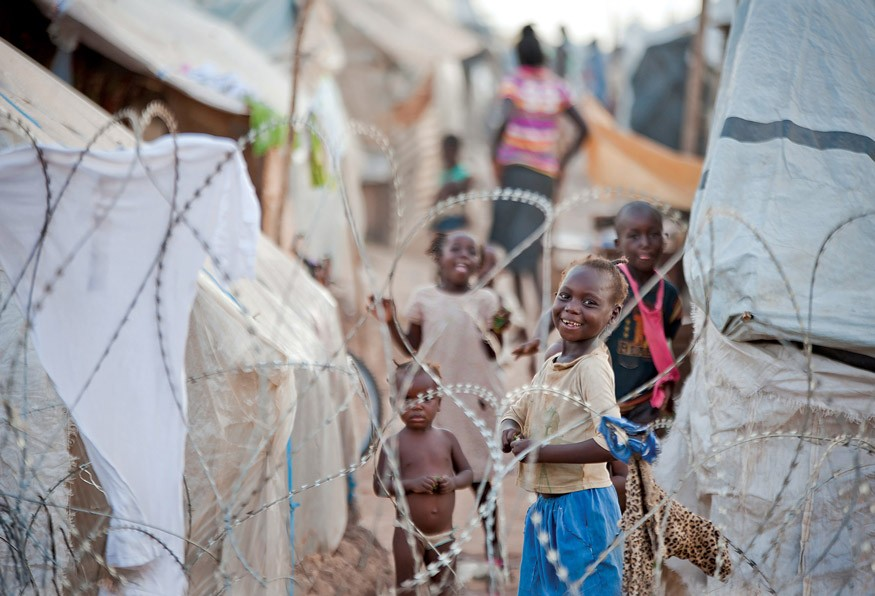 Displaced Person (IDP) living at the M'Poko camp at the airport of Bangui on 19 June 2014. UN Photo / Catianne Tijerina