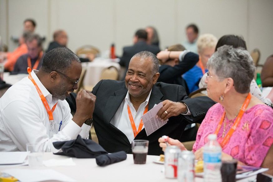 Bishop Don Williams talks with Bread activists during Lobby Day. Photo: Bread for the World