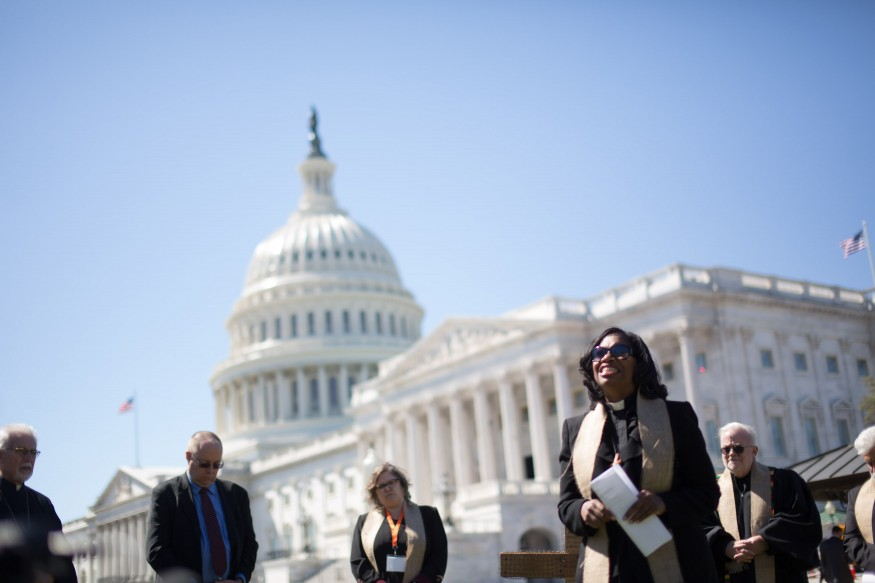 Faith leaders on the U.S. Capitol grounds. Joseph Molieri/Bread for the World.