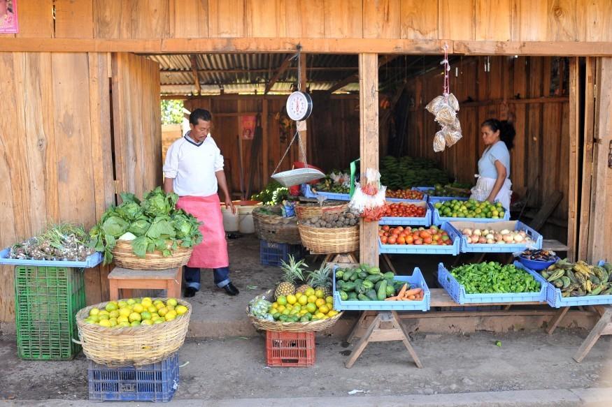 Roadside market in Nicaragua. Richard Leonardi for Bread for the World.