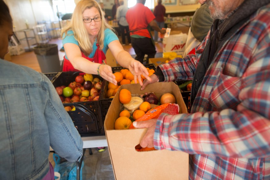 Fresh produce is a staple at The Table food pantry at St. George's Episcopal Church in Fredericksburg, Va. Joseph Molieri/Bread for the World.