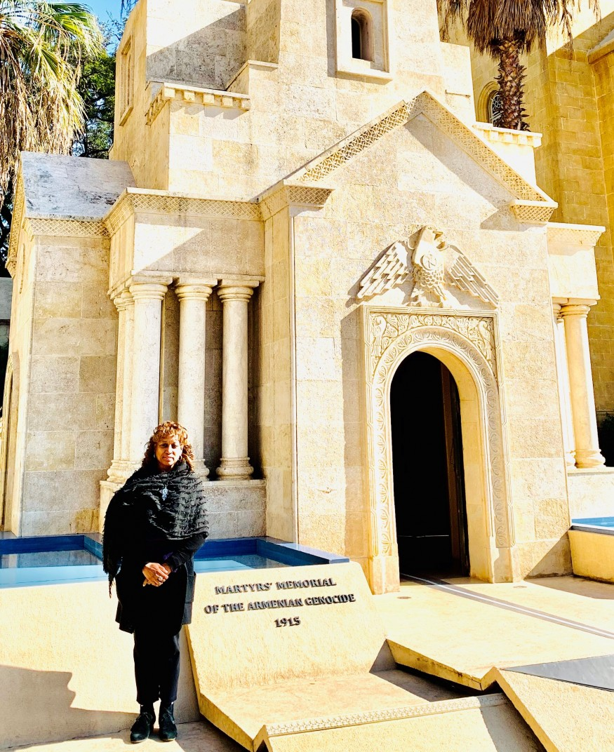Rev. Dr. Angelique Walker-Smith at the Armenian Orthodox Church Martyrs' Memorial. Angelique Walker-Smith/Bread for the World.