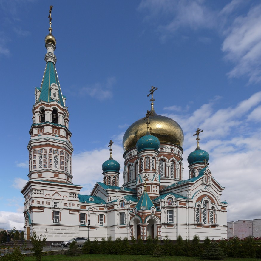 Assumption Cathedral in Omsk, Russia. Wikimedia Commons.