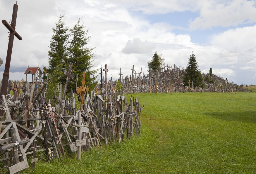Photo caption: Hill of Crosses in northern Lithuania. Wikimedia Commons.