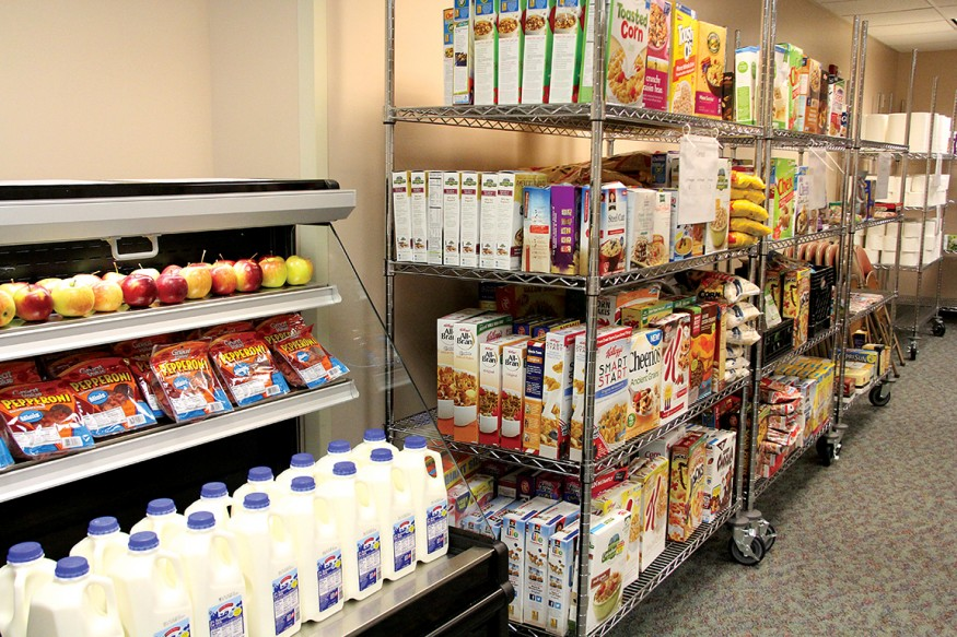 Eskenazi Health Center Pecar, located in a food desert, runs an onsite food pantry for patients and others in the community. Photo courtesy of Eskenazi Health.