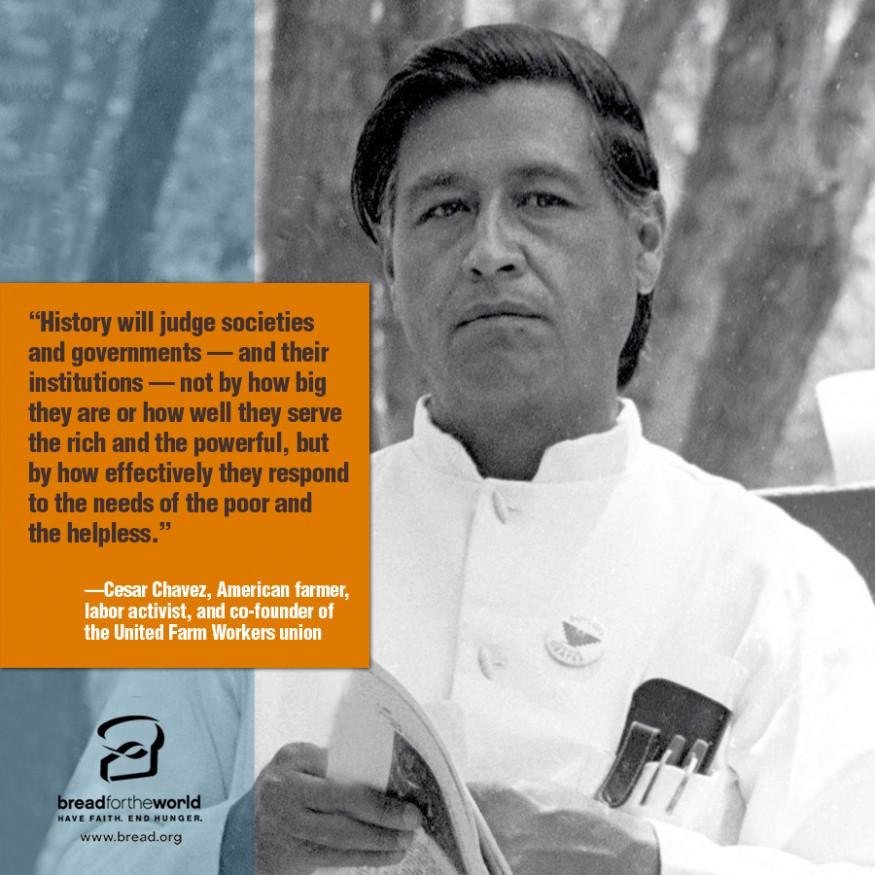 Cesar Chavez. Photo courtesy of Wikimedia Commons.